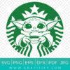 Baby Yoda Starbucks Coffee Svg