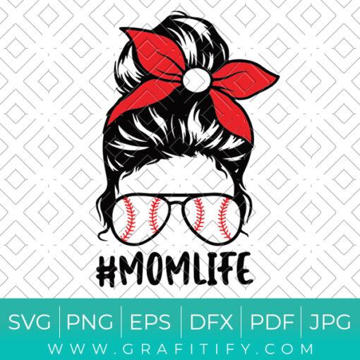 Baseball Mom Life Svg