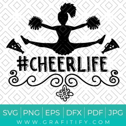 Cheer Life SVG