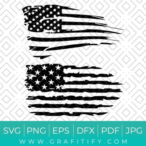 American Flag Distressed Svg