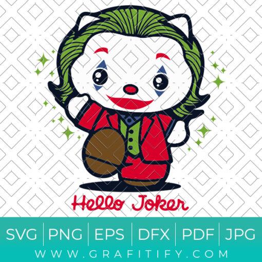 Hello kitty hello Joker Svg