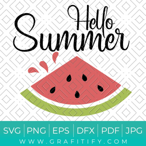 Hello Summer Svg