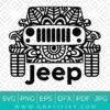 Floral Jeep Svg