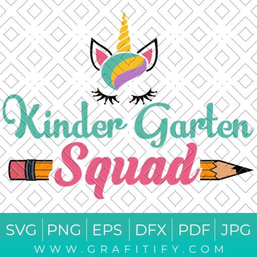 KinderGarten Squad Svg