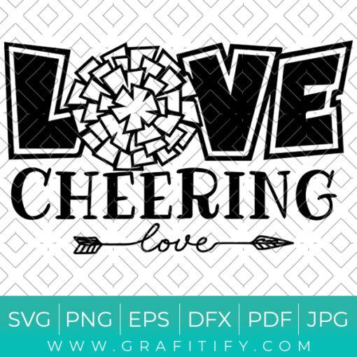 Love Cheering Svg