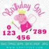Peppa Pig SVG Birthday Girl