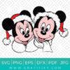Santa Mickey and Minnie Svg