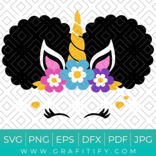 Afro Puff Unicron Svg