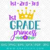 1st Grade Princess Svg