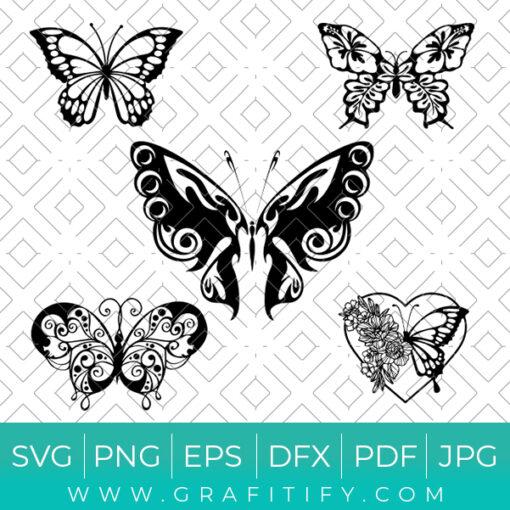 Butterflies Bundles Svg