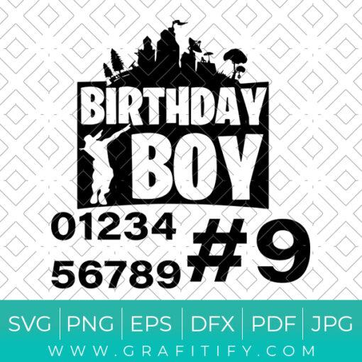 Fortnite Birthday Boy Svg