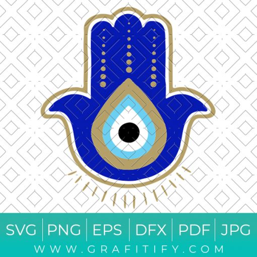 Blue Evil Eye Svg