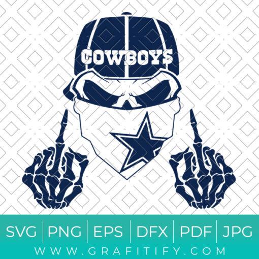 Dallas Cowboys Middle Finger Svg