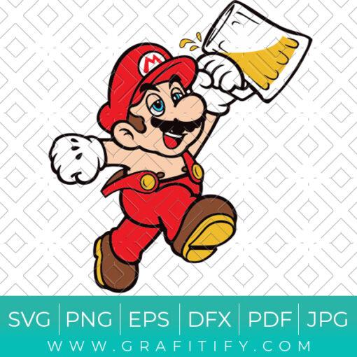 Drunk Super Mario Svg