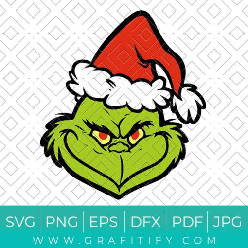 Grinch Santa Svg