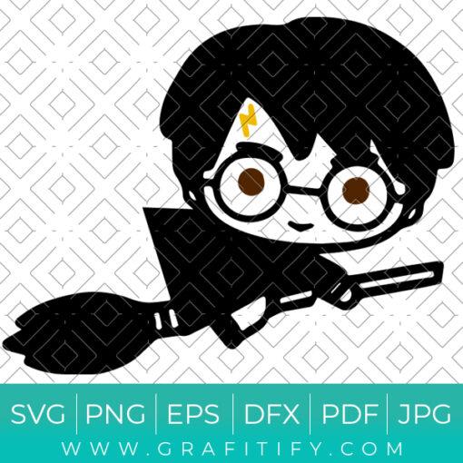 Chibi Harry Potter Svg