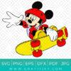 Mickey Mouse Skateboarding Svg