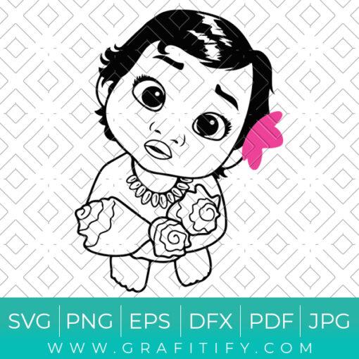 Princess Moana Baby Birthday Svg