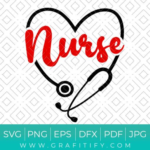 Nurse Stethoscope Svg