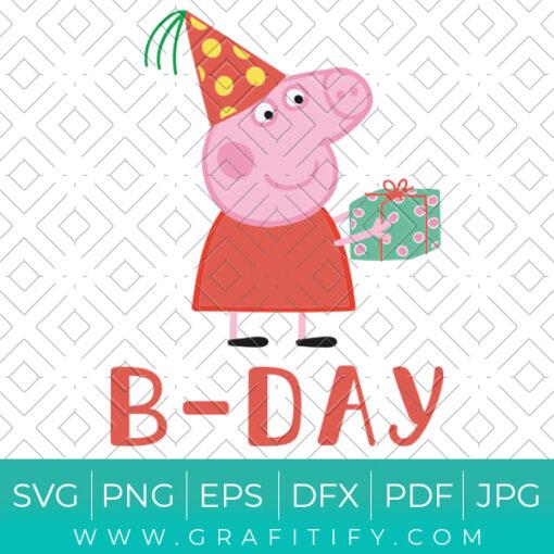 Peppa Pig Birthday Svg