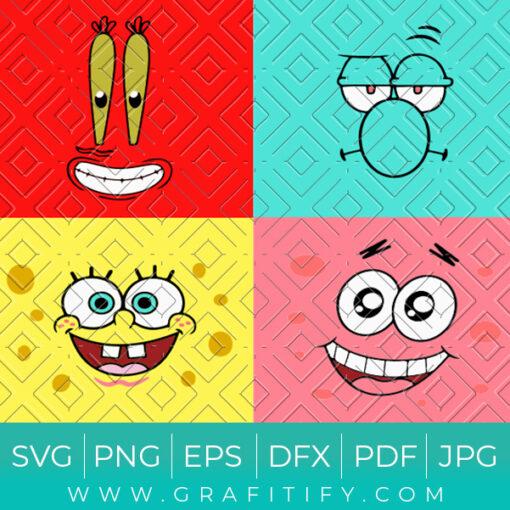 SpongBob Faces Svg