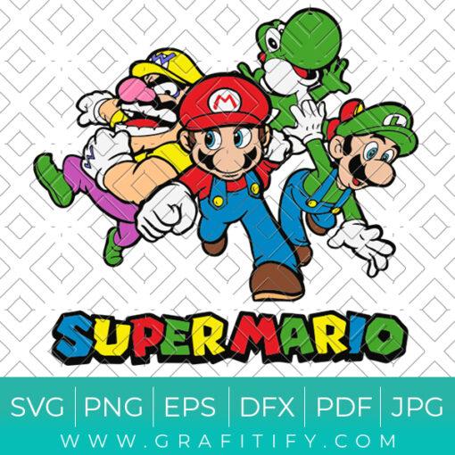Super Mario Squad Svg