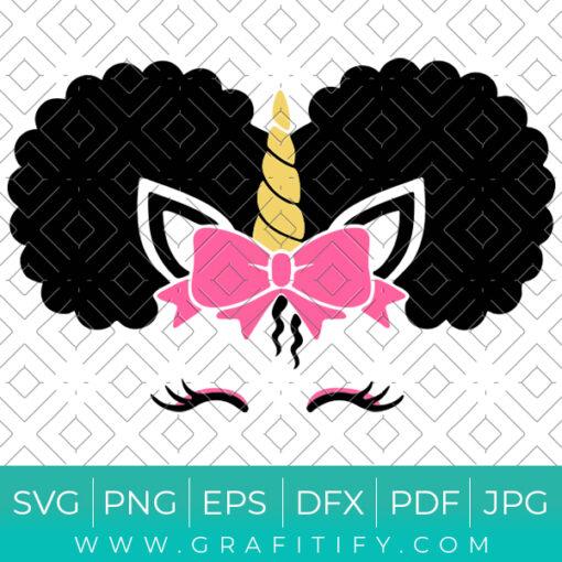 Afro Unicorn SVG