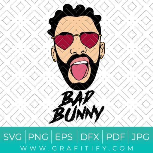 Crazy Bad Bunny Svg