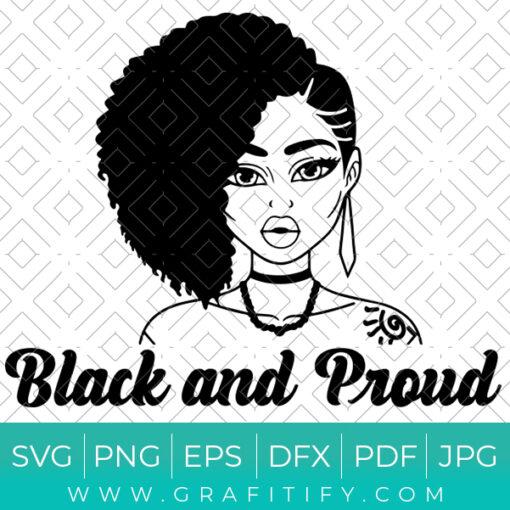 Black African American Girl svg