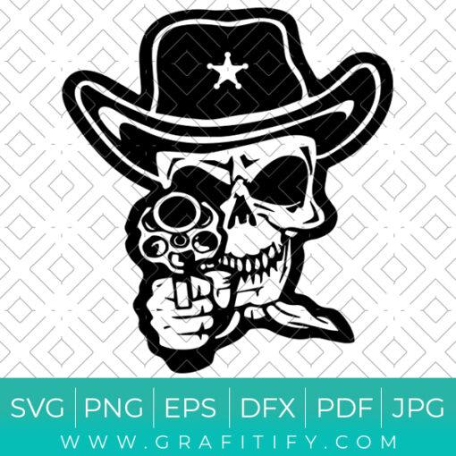 Cowboy Skeleton Svg