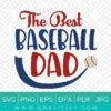 The Best Baseball Dad Svg