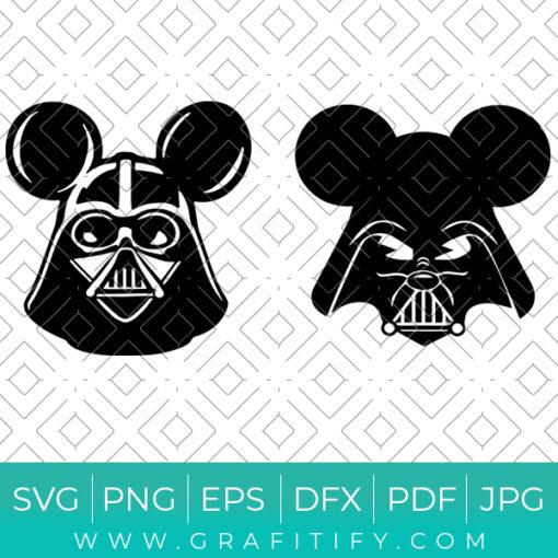 Darth Vader Mickey Ears Svg