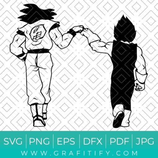 Goku Vs Vegeta Svg
