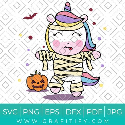 Halloween Unicorn Svg