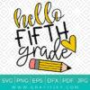 Fifth Grade Svg