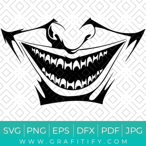 Joker Laugh Svg