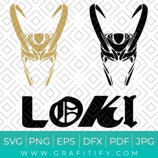 Loki Helmet Svg