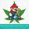 Stoned Super Mario Smoking Weed Svg