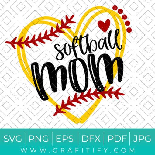 Softball Mom SVG