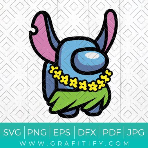Stitch Among Us Svg