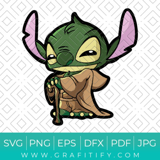 Stitch Baby Yoda Svg