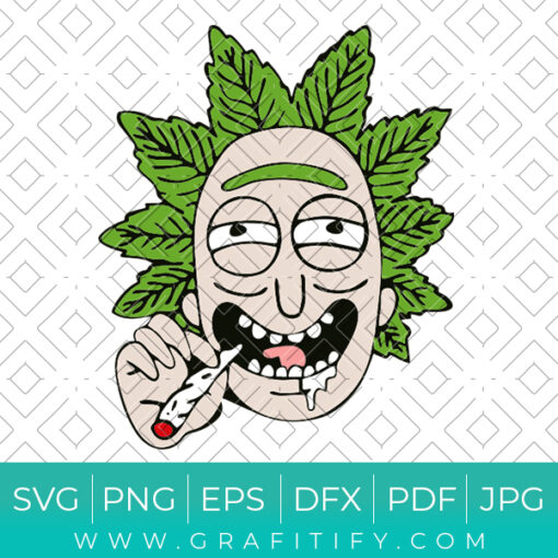 Stoned Rick and Morty Svg