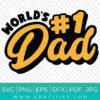 World Best Dad Svg