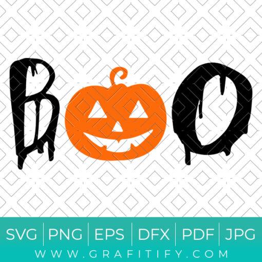 Boo Halloween Svg