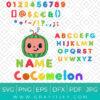 Cocomelon Costum Name Svg