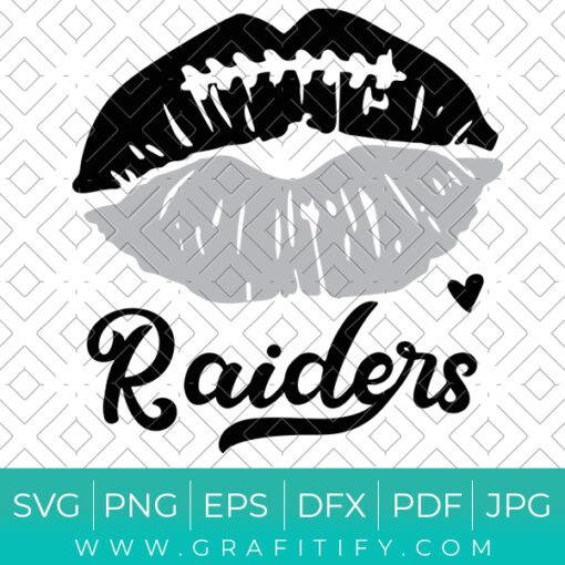 Las Vegas Raiders Lips Svg