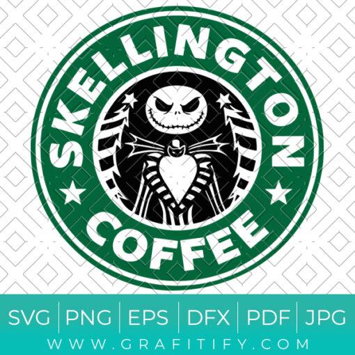 Skellington Coffee Svg