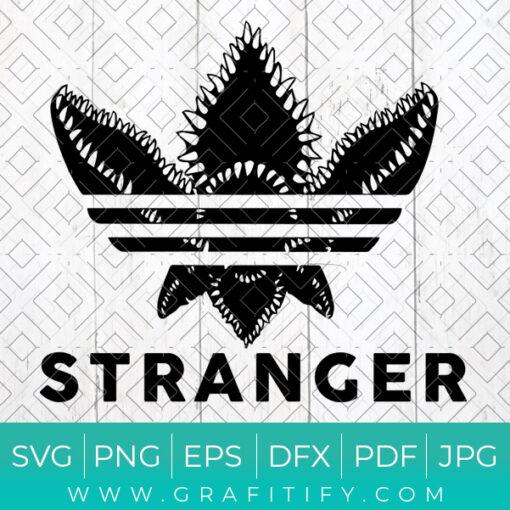 Stranger Things Adidas Logo Svg