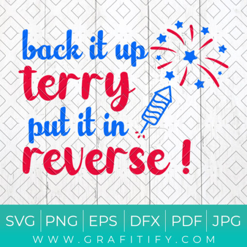 Back It Up Put It in Reverse Svg
