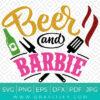Beer and Barbie Svg